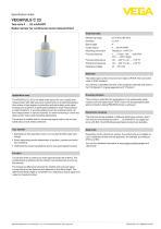 Specification sheet VEGAPULS C 23