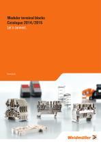 Modular terminal blocks Catalogue 2014/2015 - 1