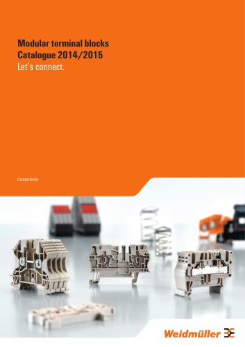 Modular terminal blocks Catalogue 2014/2015