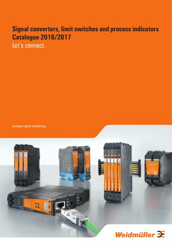 Signal converters, limit switches and process indicators Catalogue 2016/2017