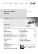 Hydraulic cylinders Mill type