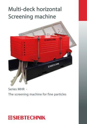 Multi-deck horizontal Screening machine