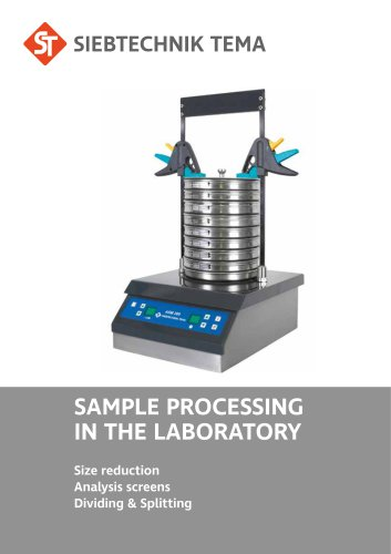 SAMPLE PROCESSING IN THE LABORATORY