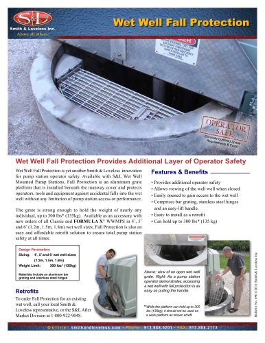 Wet Well Fall Protection for S&L Pump Stations