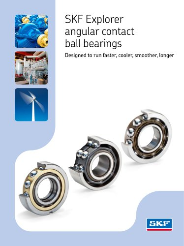 SKF Explorer angular contact ball bearings