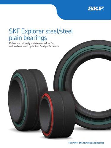 SKF Explorer steel/steel plain bearings