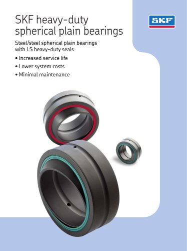 SKF heavy-duty spherical plain bearings