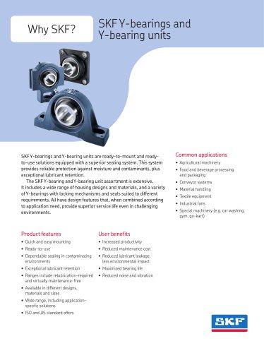 SKF Y-bearings and Y-bearing units