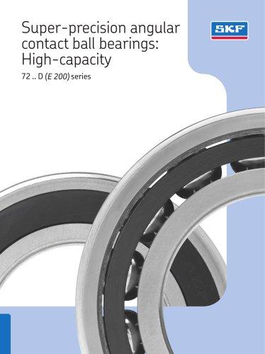 Super-precision angular contact ball bearings: High-capacity 72 .. D (E 200) series