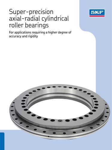 Super-precision axial-radial cylindrical roller bearings