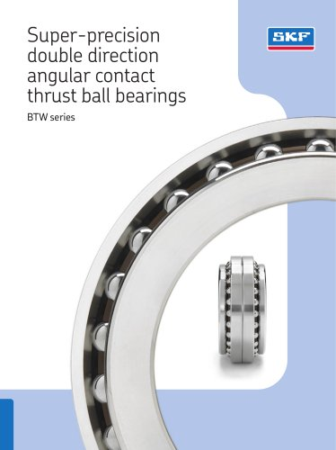 Super-precision double direction angular contact thrust ball bearings BTW series