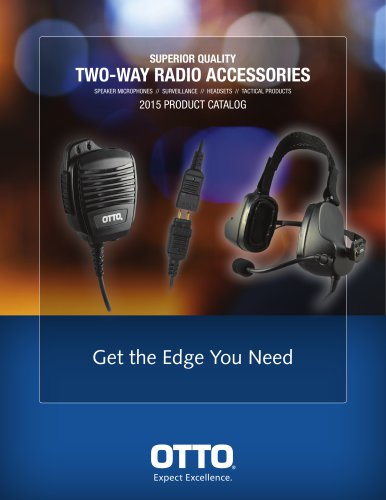 TWO-WAY RADIO ACCESSORIES 2015 PRODUCT CATALOG