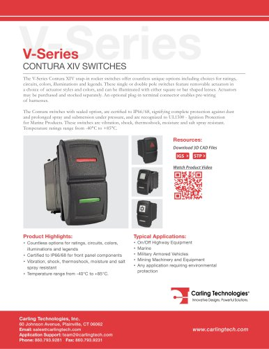 V-Series-Contura-XIV - Carling Technologies - PDF Catalogs