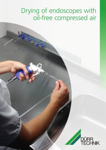 Drying of endoscopes with oil-free compressed air