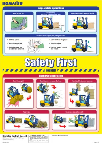 Safety first brochure