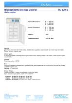 Bloodplasma Storage Cabinet compliant with the DIN 58375 - static cooling 104 Litres