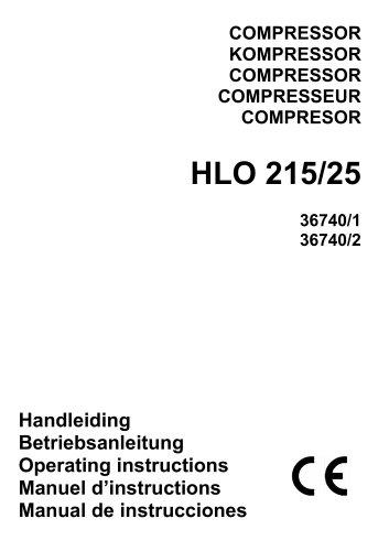 Airpress compressor (36740/1, 36740/2)