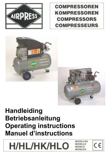 Airpress Compressoren (Groene serie)