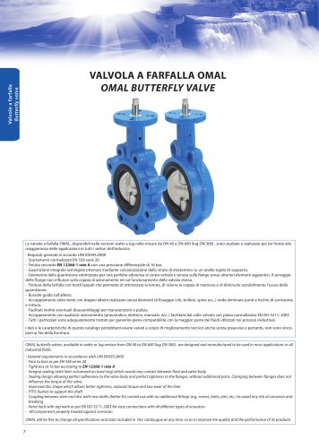 Butterfly valves - General characteristics