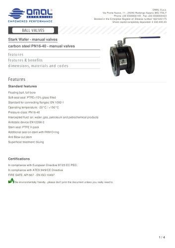 carbon steel PN16-40 - manual valves