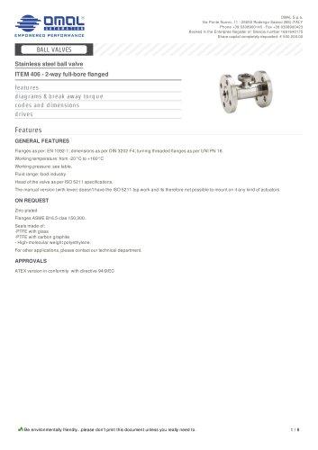 ITEM 406 - 2-way full-bore flanged