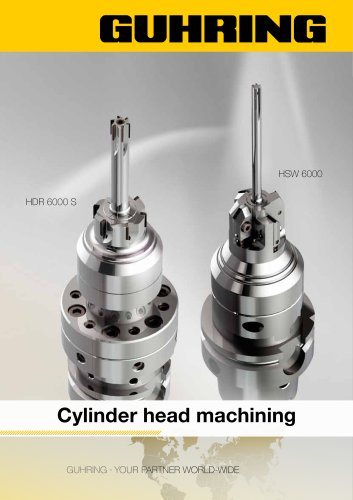 Cylinder head machining HDR 6000 S and HSW 6000