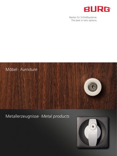 "Brochure ""Furniture and Metal products"