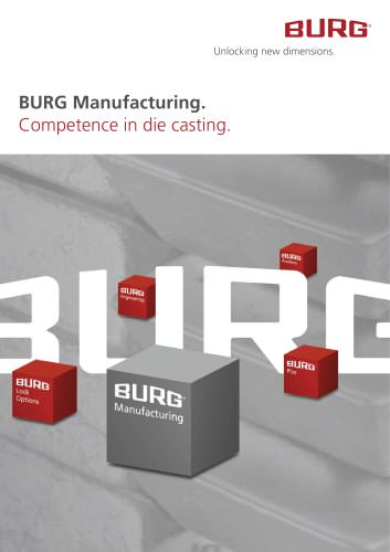 BURG Manufacturing. Competence in casting.