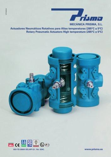 Rotatory Pneumatic Actuators - High Temperature (265°C)