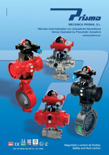 Valves Operated by Pneumatic Actuators
