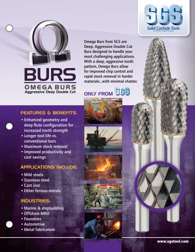Omega Aggresive Deep Double Cut Burrs