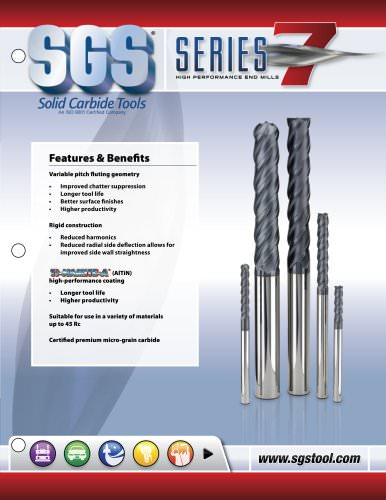 Series 7 High Performance End Mills - Long