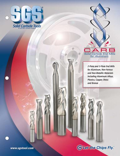 Solid carbide end mills for aluminum
