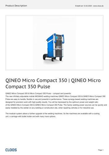 QINEO Micro Compact 350   QINEO Micro Compact 350 Pulse