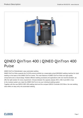 QINEO QinTron 400   QINEO QinTron 400 Pulse