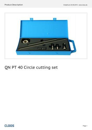QN PT 40 Circle cutting set