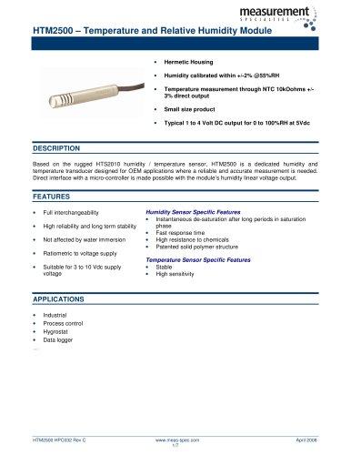 Humidity and Temperature Sensor - HTM2500