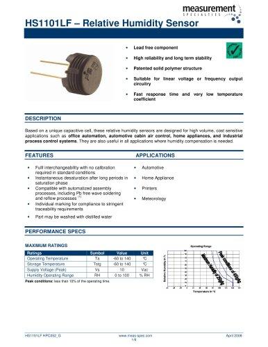 Humidity Sensor - HS1101LF