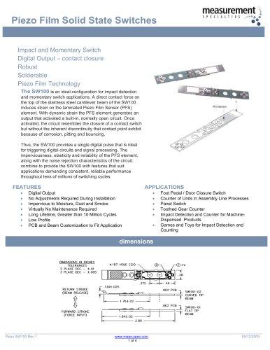 Piezo Sensor - Solid State Switches