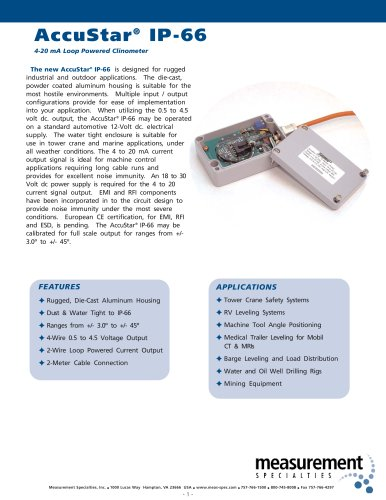Position Sensor - AccuStar IP-66 Series