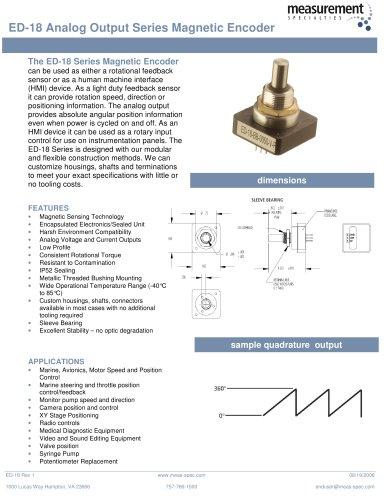 Position Sensor - ED-18 Series
