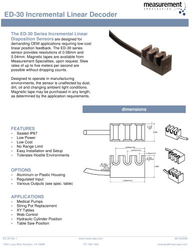Position Sensor - ED-30 Series