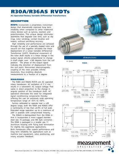 Position Sensor - R36AS Series