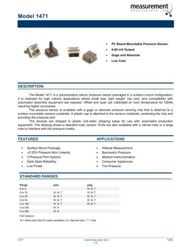 Pressure Sensor - Model 1471