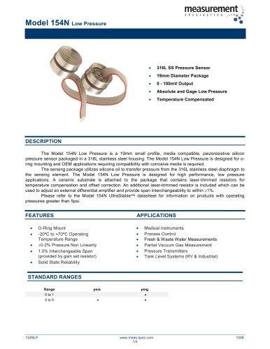 Pressure Sensor - Model 154N Low Pressure