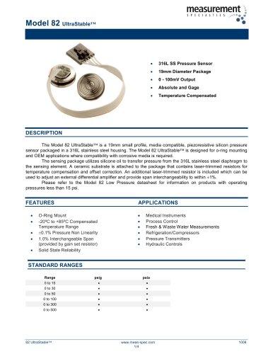 Pressure Sensor - Model 82 UltraStable™