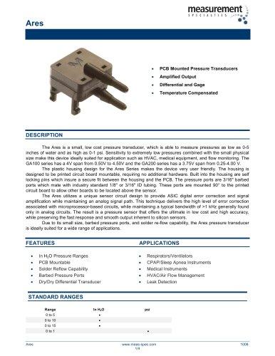 Pressure Sensor - Model Ares