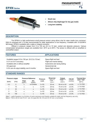Pressure Sensor - Model EPXN