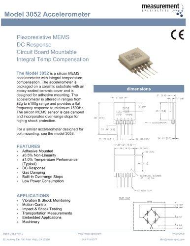 Vibration Sensor - Model 3052 Accelerometer
