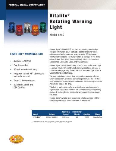 121S Vitalite® Rotating Warning Light